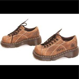 Dr Martens light brown leather Melissa Oxfords